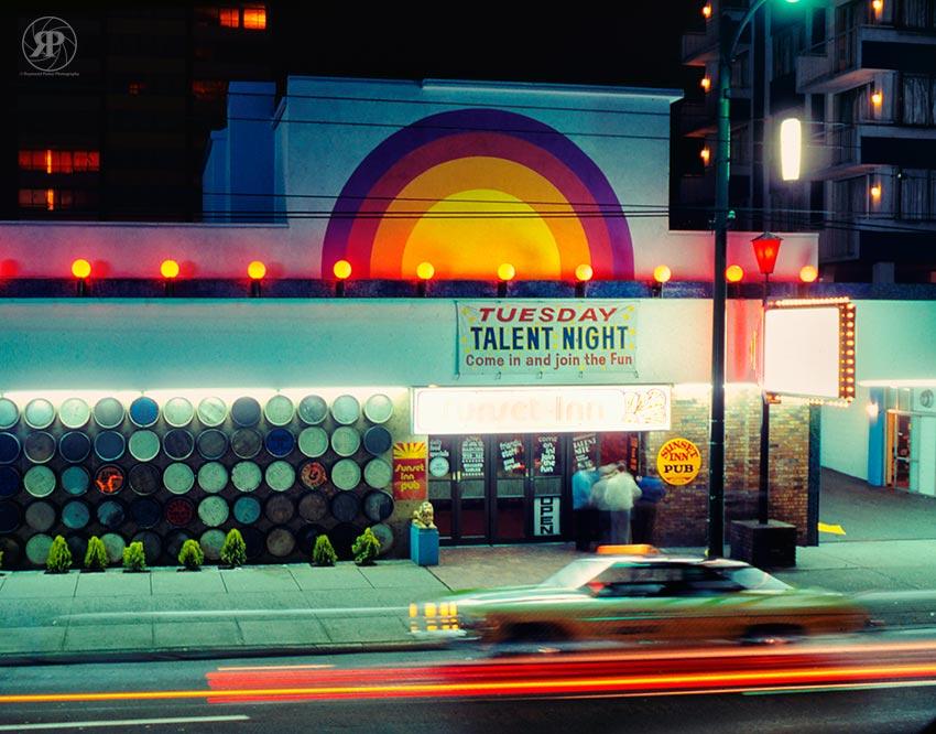 Sunset Inn, Robson Street, 1978