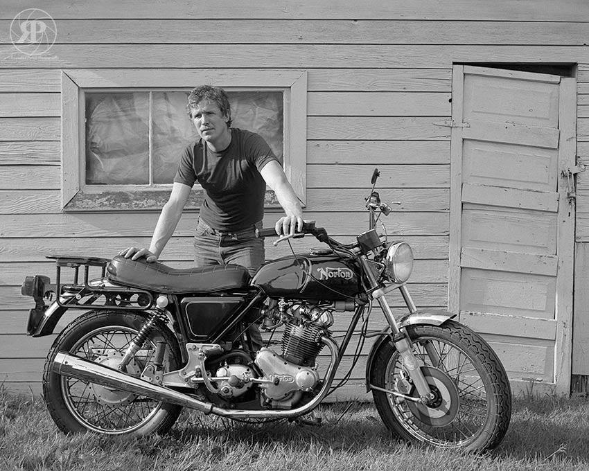 Don and his Norton, Vancouver, 1983