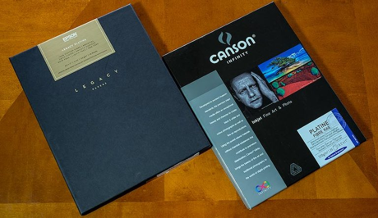 Comparing Canson Infinity and Epson Legacy papers: a brief